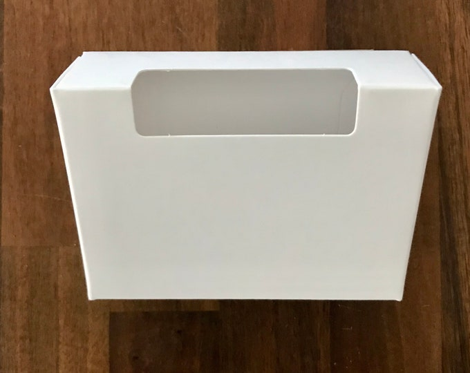 """100-Fancy Top Window Soap Box, White, 100% Recyclable,  2 3/4"""" x 3 13/16"""" x 1 3/16"""", Eco Friendly Packaging, FREE US Ship, Two Wild Hares"""