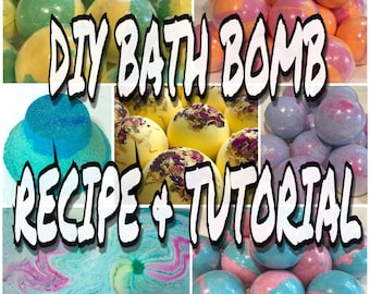 DIY BATH BOMB Recipe & Tutorial Guide, Bath Bomb Making, Step By Step, Two Wild Hares