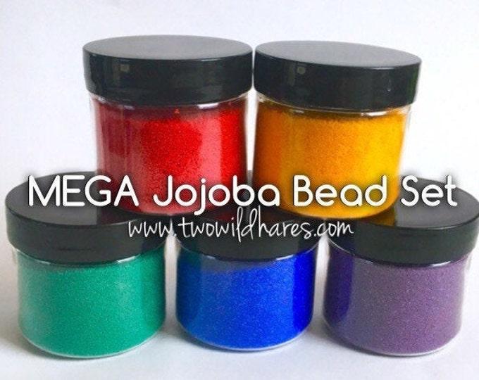 MEGA RAINBOW Jojoba Bead Set, 5 Colors, Bulk 4oz size for each color (20 oz)