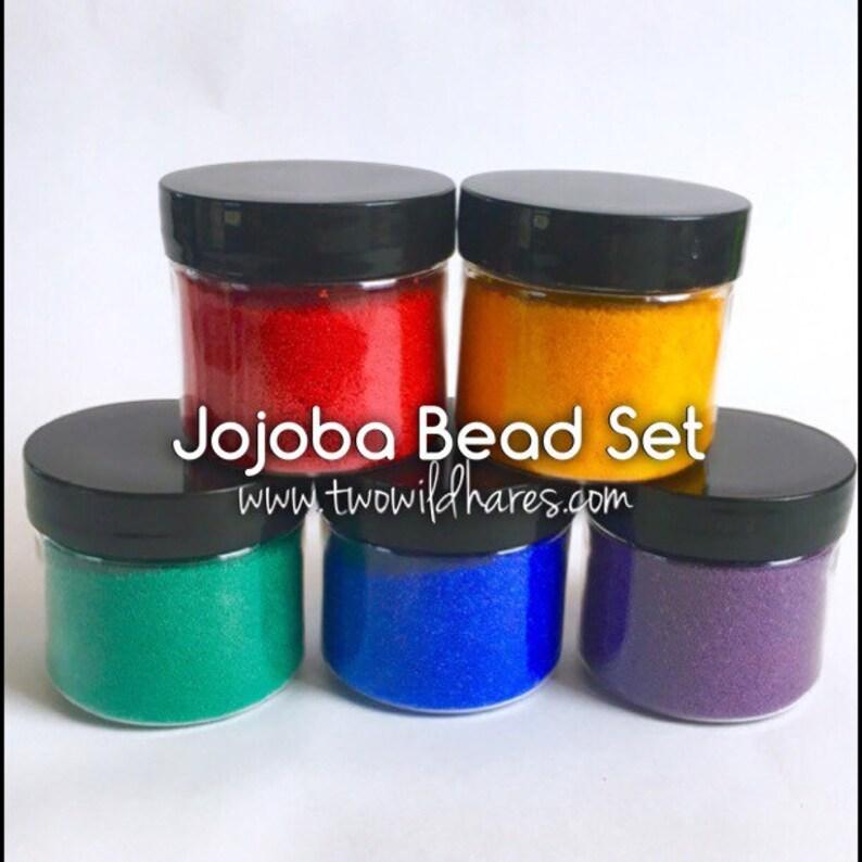 RAINBOW JOJOBA BEADS Set 5 Colors 20/40 Exfoliant Safe image 0