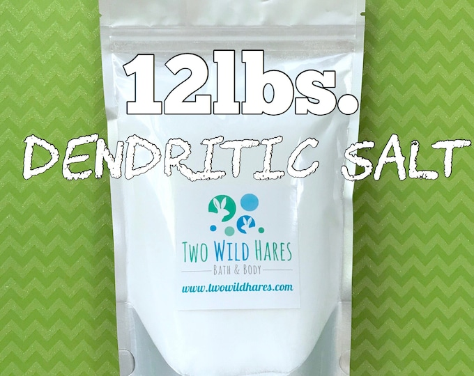 12lbs. DENDRITIC SALT, Fine Grain, Anchors Scent, Keeps Salts From Clumping, Free Usa Ship, Two Wild Hares