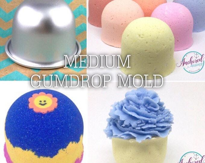 "MED GUMDROP Bath Bomb & Baking Mold, Metal, 2 5/16"" across, 2 1/2"" deep, Two Wild Hares"