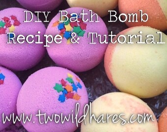 DIY BATH BOMB Recipe & Tutorial Guide, Two Wild Hares