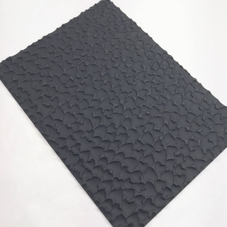 Bubble bar Silicone Two Wild Hares Free Usa Ship Fimo Soap Dough HEARTS Impression Texture Mat Mold DIY Soap 9.5x7