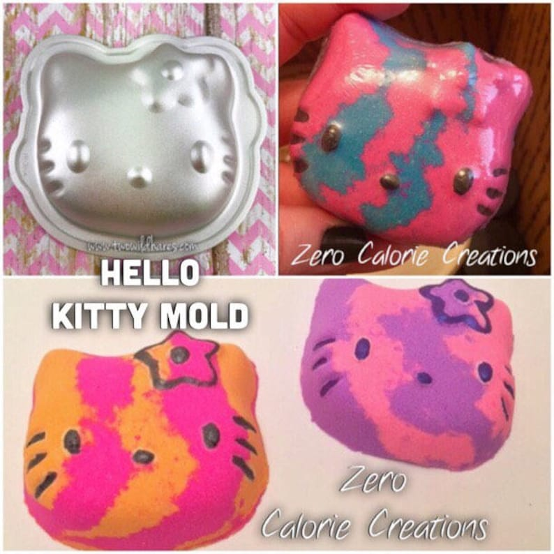 HELLO KITTY Bath Bomb & Baking Mold Metal 3 wide by image 0