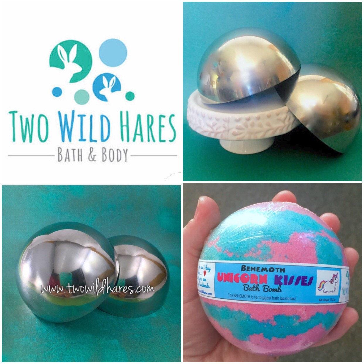3.5″ BATH BOMB Mold, Heavy Duty, Stainless Steel, Almost Softball ...
