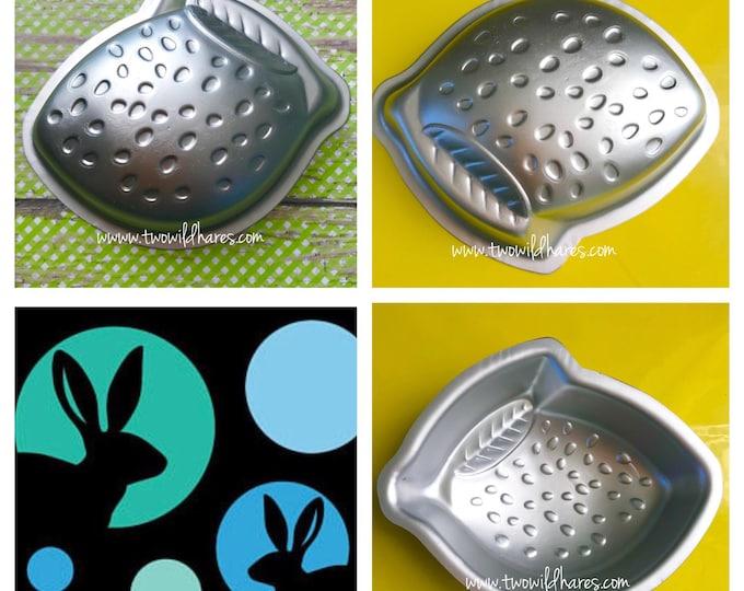 """LEMON / LIME Bath Bomb Mold, Metal, 3 7/8"""" x 3"""" x 1 1/8"""" Two Wild Hares"""