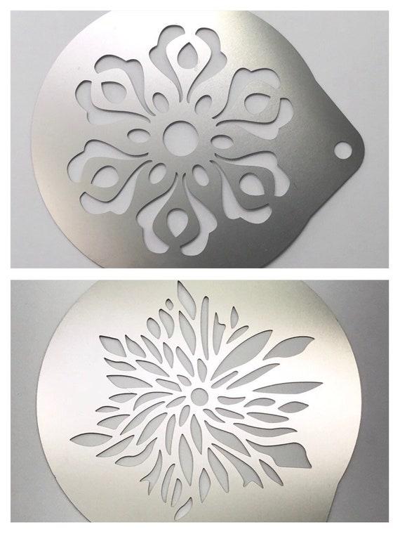 c6ed1917b2b 2pc. Airbrush Stencil 2 Flower Designs Bath Bombs Baking