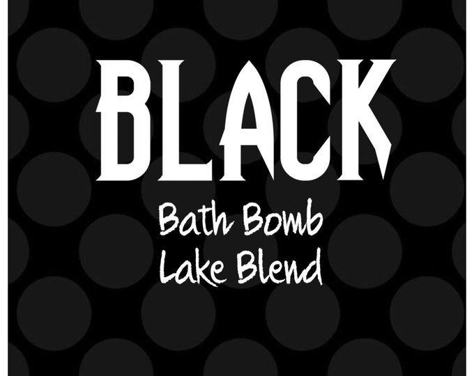 4oz BLACK Bath Bomb Lake Dye Blend, High Dye %, Cosmetic Colorant, Batch Certified, Container Packaging, Two Wild Hares