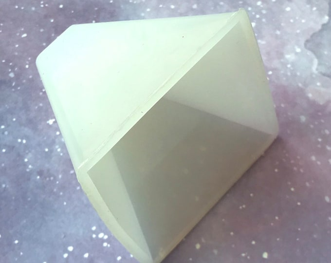 "2.5"" PYRAMID Silicone Mold, Soap, Lotion Bars, Jelly Soap, Wax, Resin, DIY Soap, Free Usa Ship,Two Wild Hares"