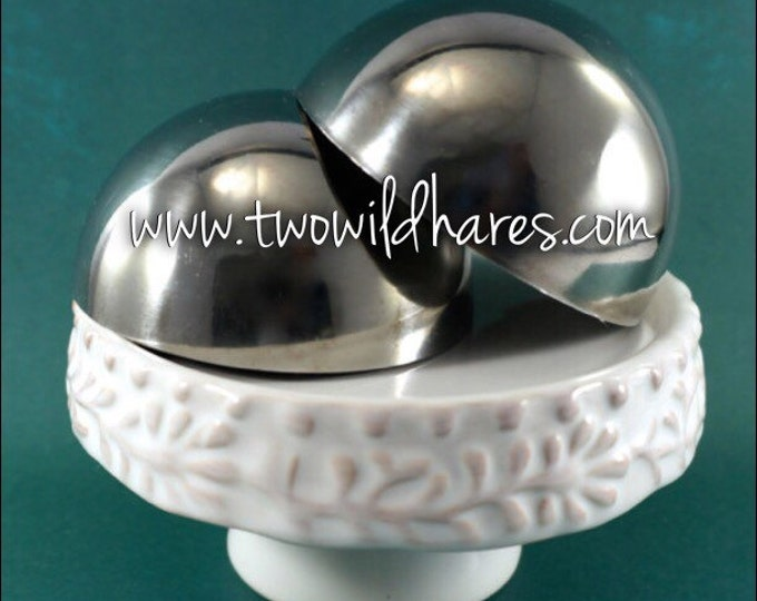 2.5″  BATH BOMB Mold, 63mm, Heavy Duty, Stainless Steel, Won't Dent Like, Best Selling Size, Two Wild Hares