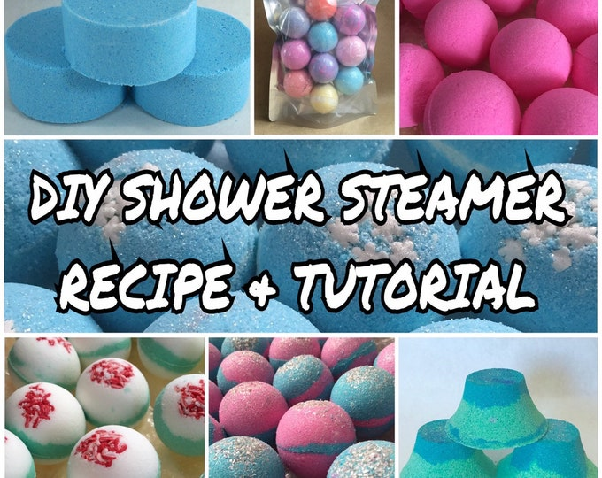 DIY SHOWER STEAMER Aromatherapy Recipe & Tutorial Guide, Step By Step, Two Wild Hares