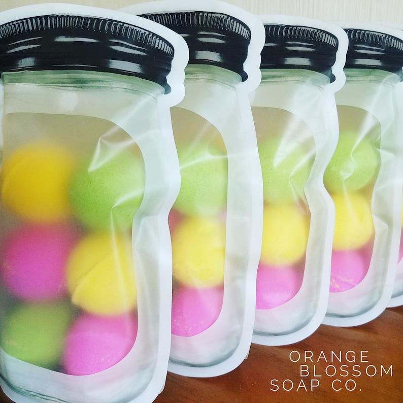 For Bath Salt Bomb Dust 12-MASON JAR Stand Up Pouches Impulse Sealable Milk Bath Bath Tea Etc