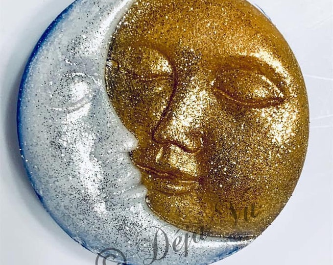 MAN in MOON Silicone Soap Mold, 1 Cavity, 3oz, (85g) Heat Safe, Lotion Bars, Soap, Jelly, Wax, Free US Ship, Two Wild Hares