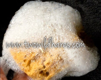 """SEA SPONGE 1pc, 4""""-5"""" Luxury Natural Yellow Bathing or Cosmetic Sea Sponge, Sustainably Harvested, Two Wild Hares"""