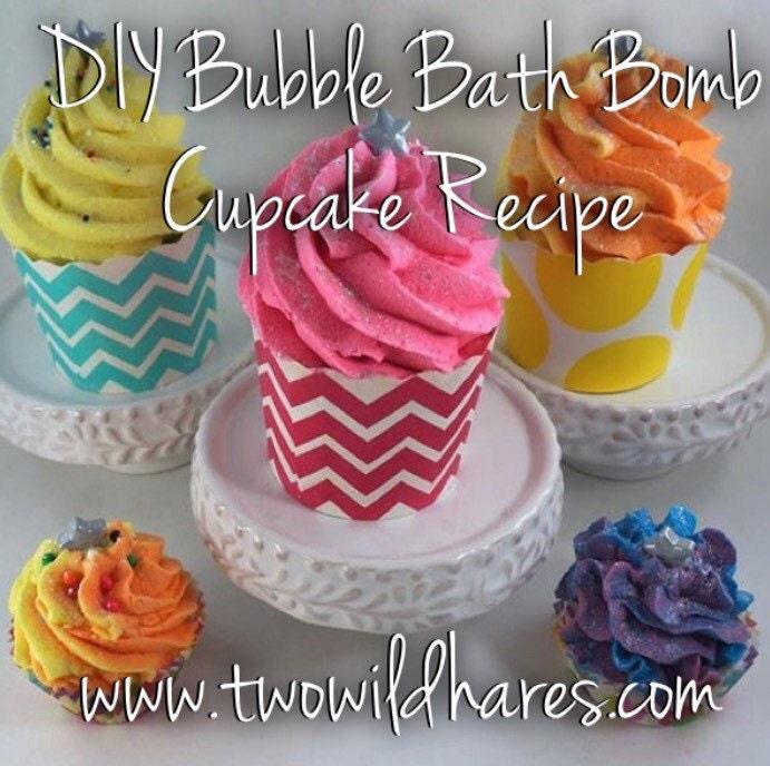DIY Bubble Bath Bomb Cupcake Recipe Tutorial Guide 2 Recipes In 1