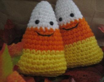 Halloween Crochet Candy Corn for Fall Season photo props -Corny Friends gift