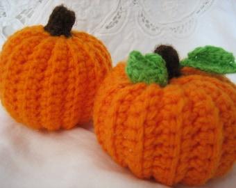 Fall, Thanksgiving and Christmas - Set of 2 Pumpkins