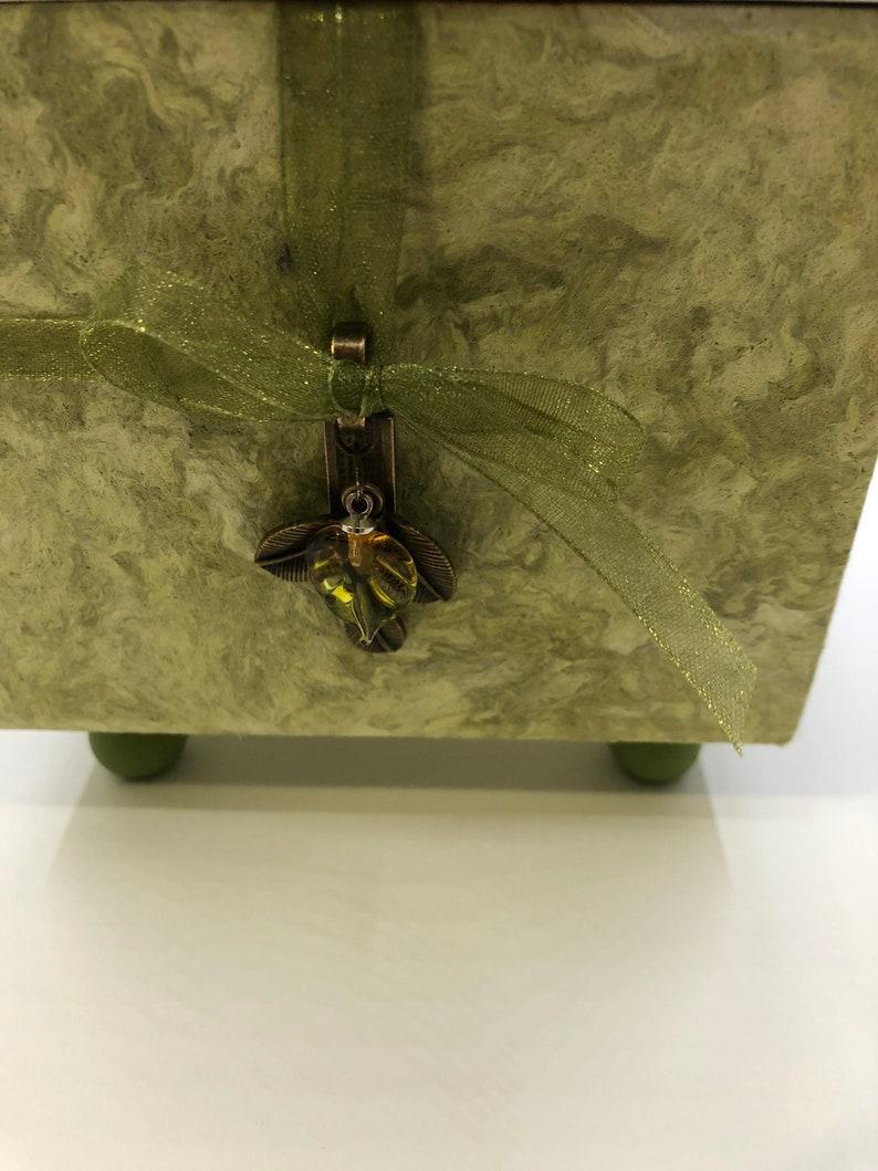 Spring Green Ecoprint Box