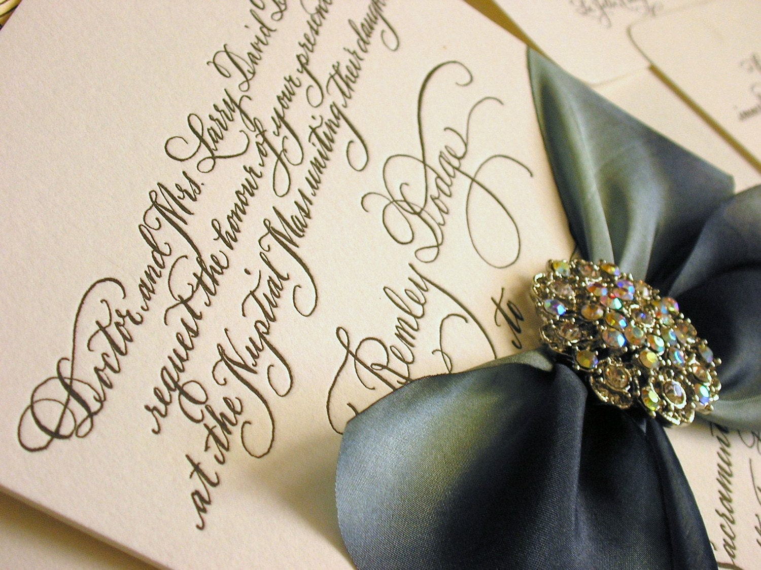 Making Wedding Invites Yourself: DIY Calligraphy Wedding Invitation Wording To Print