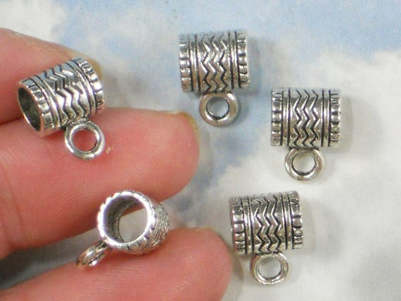 6 I love quilting charms antique silver tone P531