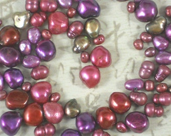 Pearl Mix Violet, Rose & Bronze Baroque and Potato Freshwater (252)