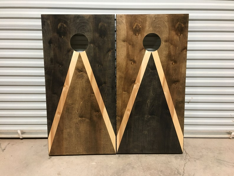 Stained Cornhole Boards  Lawn Games Corn Toss Wedding Non Painted Personalized Company Logo