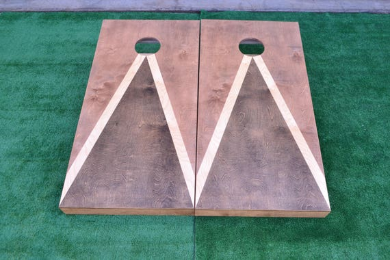 Stained Cornhole Boards Full Size Custom Corn hole Boards Lawn Games Corn Toss Wedding Non Painted Personalized Company Logo
