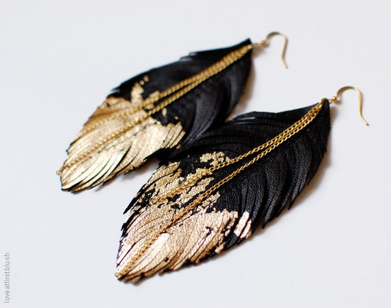 Feather Earrings Feather Jewelry