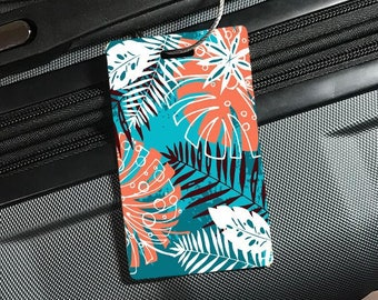 Sea Shell Tropical Beach Paradise Island Luggage Tag Label Travel Bag Label With Privacy Cover Luggage Tag Leather Personalized Suitcase Tag Travel Accessories