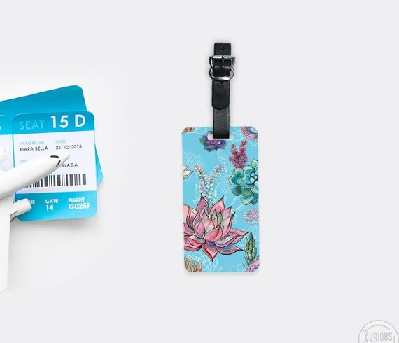 Farm House Blue Flowers On Wooden Board Luggage Tag Label Travel Bag Label With Privacy Cover Luggage Tag Leather Personalized Suitcase Tag Travel Accessories