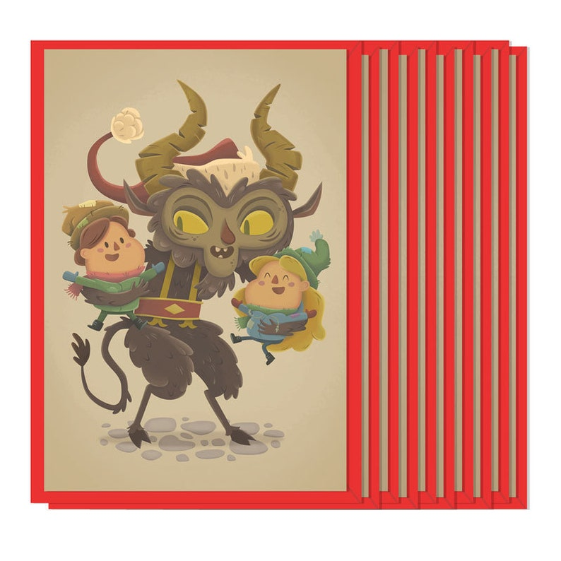 Krampus holiday card Set of 10 image 0