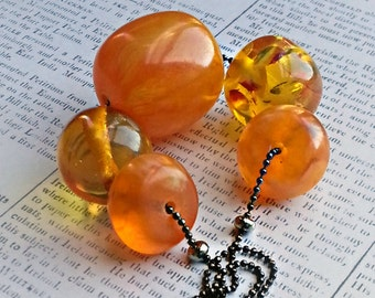 Saffron Amber Resin Statement Necklace