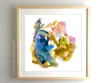 Scavenger Hunt - PRINT abstract painting, watercolor painting, paper print, colorful print, cheerful print, rainbow print, dynamic, vibrant