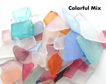 Sea Glass Bulk, Beach Decor, Nautical Decor Bulk Beach Glass, Bulk Seaglass, Beach Wedding Decor, Sea Glass Bulk COLORFUL MIX, 2 Lbs