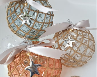 more colors beach christmas ornament ball nautical