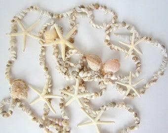 Beach Christmas Decor, Coastal Christmas Decor Seashell Garland, Nautical Christmas Decor Starfish Garland, Shell Garland, 8.5FT, UMBONIUM