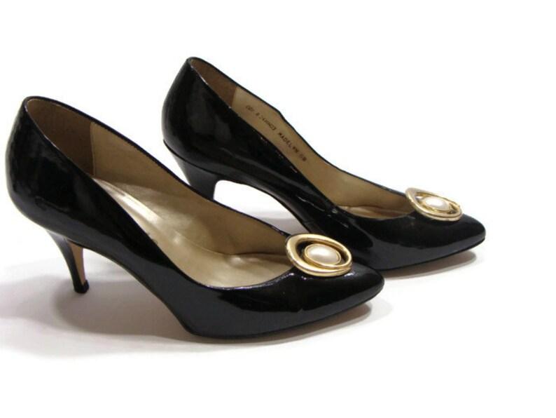 1f08c0b56dca Vintage Black Patent Leather Pumps Black Patent Leather
