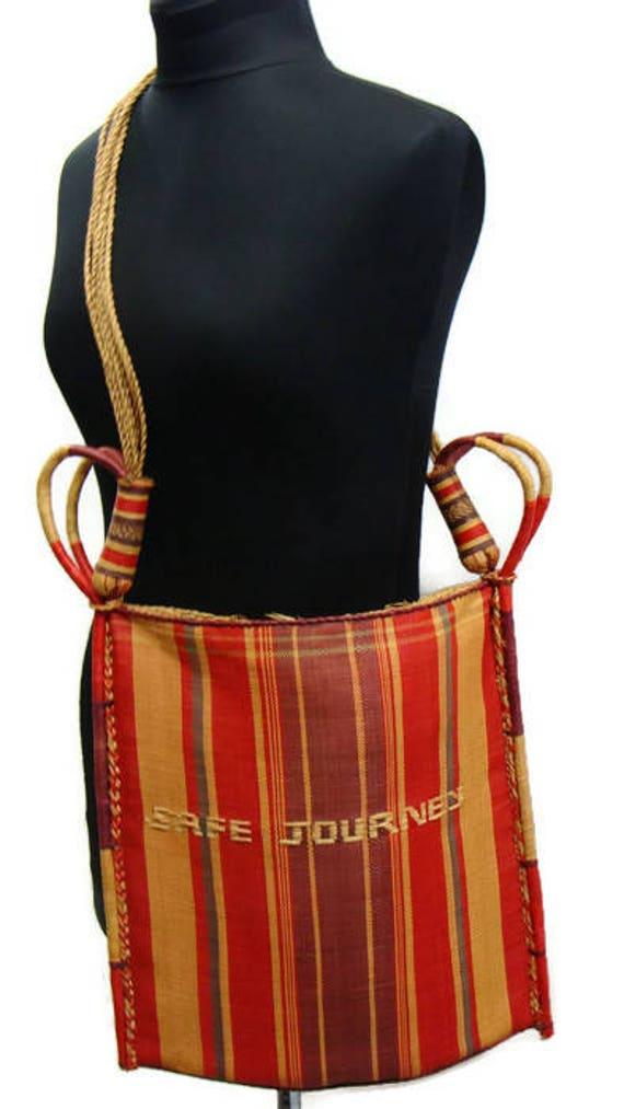 Vintage Straw Shoulder Bag Woven Straw Handbags Vi