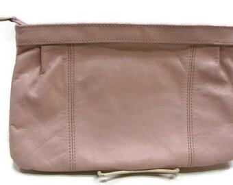 Vintage Light Pink Clutch Bag Vintage Leather Clutch