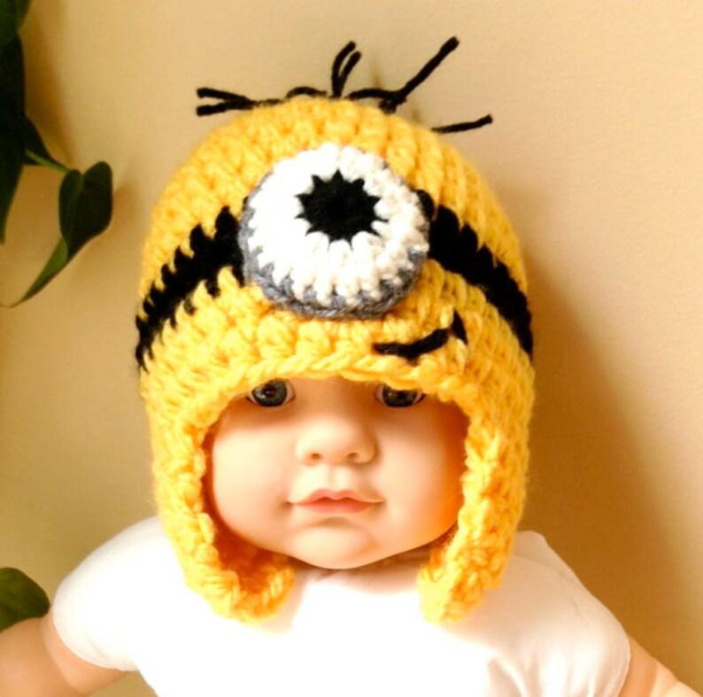 6317edbe198 Despicable Me Minions Hat Crochet Beanie Steelers Fan colors