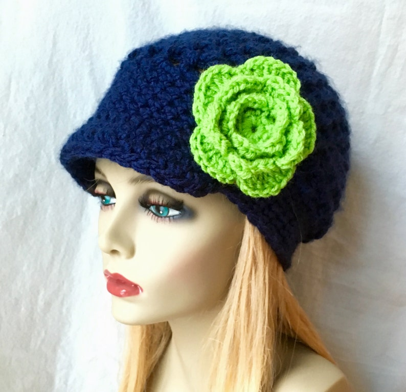 c86ee2a2e491be Sports Team Seattle Seahawk Lime Green Blue Womens Hat   Etsy