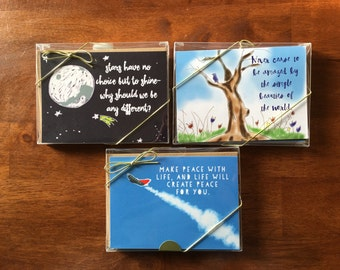 Positive Quotes Greeting/Thank You Cards.