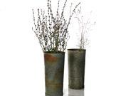 Reserved, Vintage Flower Bucket, Metal Sap Pail