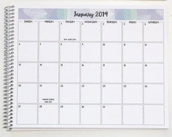 "2021 Monthly Desk Calendar 8.5""x11"" | 30 Banner Designs | Large Desk Planner | 2021-2022 Desk Planner | Desk Organizer | Desk Calendar Pad"