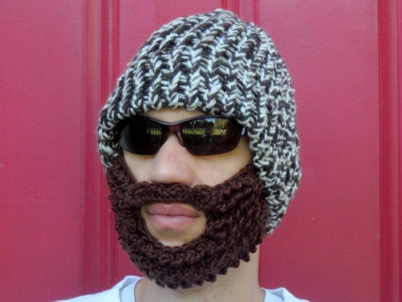 3764f7f877a crochet beard hat bearded lumberjack hat The Original Beard