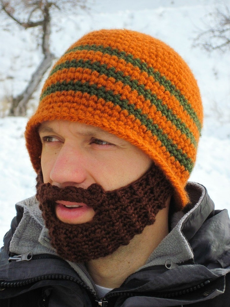 742bc385a98 Custom beard hat beard beanie crochet hat with beard
