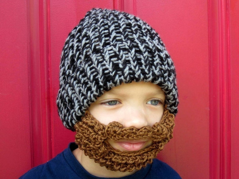 dccb677d54f Kids beard beanie kids beard hat The Original Beard Beanie™