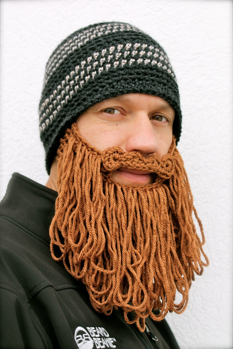 3cabb258517 long beard hat The Original Beard Beanie™ shaggy dark gray