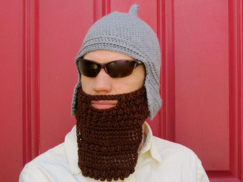 1d17ab97f53 Assyrian Bearded Helmet hat crochet custom made The Original